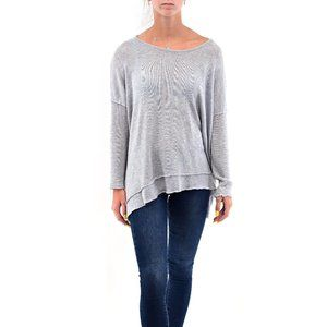 ETIQUETTE V Neck Twisted Knot Back Sweater #A15